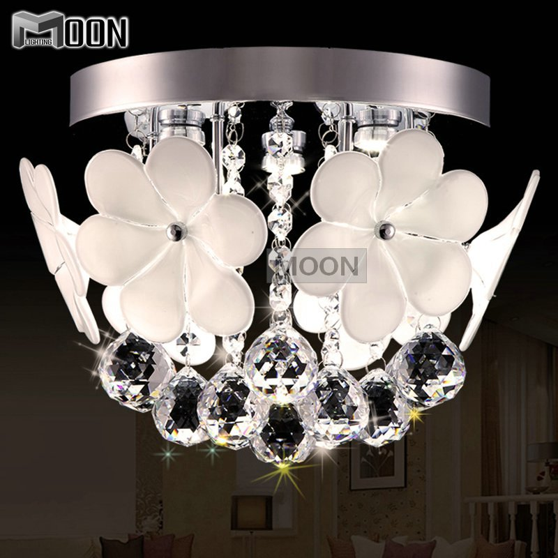 Здесь можно купить  Modern Flower Crystal Light Fixture Flush Mounted Cristal Lustres Ceiling lamp Aisle Porch Hallway  Corridor Lamp for Ceiling Modern Flower Crystal Light Fixture Flush Mounted Cristal Lustres Ceiling lamp Aisle Porch Hallway  Corridor Lamp for Ceiling Свет и освещение