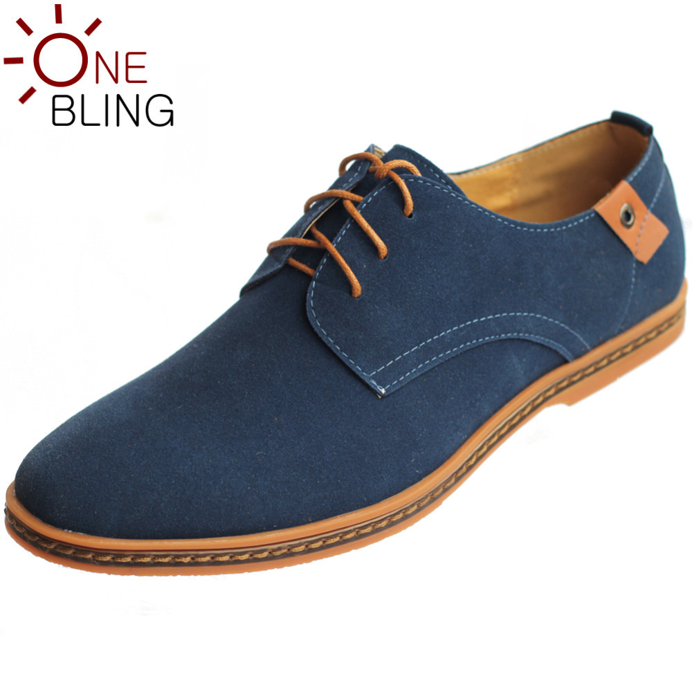 OneBling Hot Sale Men Shoes 2016 Spring Autumn Winter Warm Suede Leather Casual Shoes Mens Oxfords