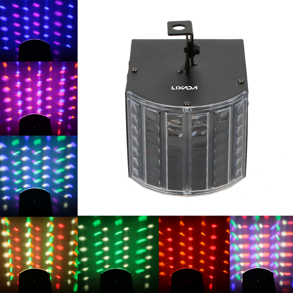 LIXADA 30W RGBWY LED DMX512 Sound Activated Black/White 6 Channels Mini Stage Light Effect Lamp for Disco KTV Club Party(China (Mainland))