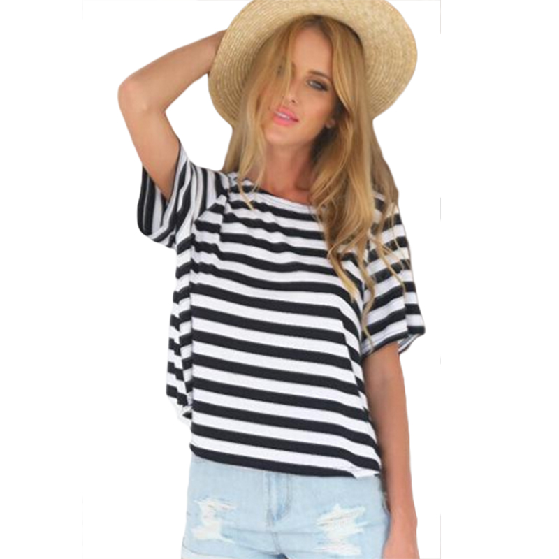 Casual t shirts 2016 summer new arrive o neck short sleeve for Black and white short sleeve shirts