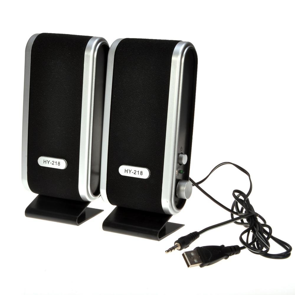 Black fashion mini speaker USB Portable sound box Multimedia Speaker For Laptop PC(China (Mainland))