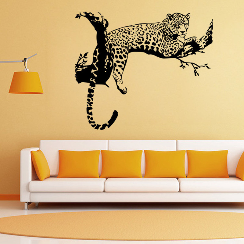 Leopard Wall Decals - decorative cheetah leopard vinyl wall decal ...