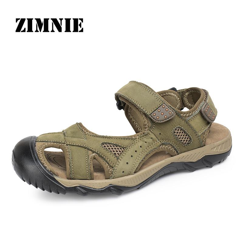 High Quality Sandal Men Summer New Arrival Slippers Genuine Leather Casual Sandals Men Brand Outdoor Shoes Men Big Size 38-48(China (Mainland))