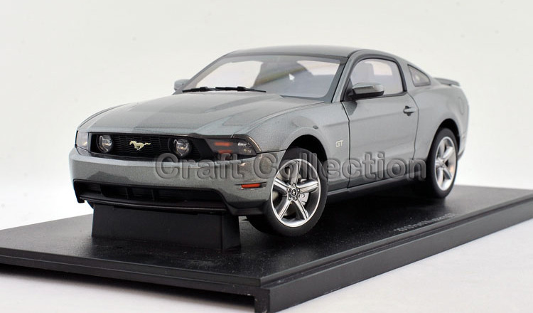 Autoart 1/18 Ford Mustang GT 2010 (Grey) Alloy Mannequin Automobile Sizzling Promoting Auto Items Miniatures Items