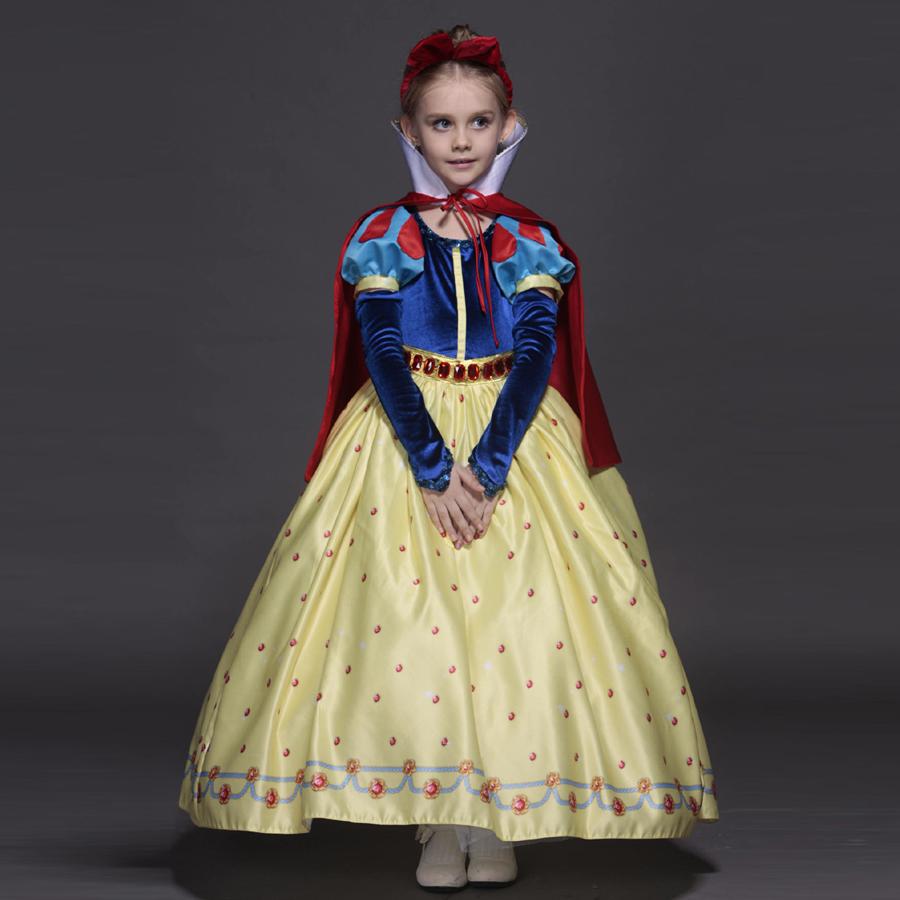 Alta qualidade vestido de princesa sofia para meninas branca de neve Cosplay festa de natal tutu vestidos(China (Mainland))