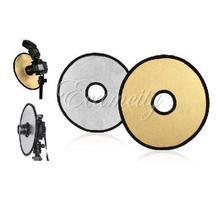 Livraison gratuite une 2-en – 12 polegada disque Photo Studio lampe pliable Double – face creux photographie réflecteur or argent NEW