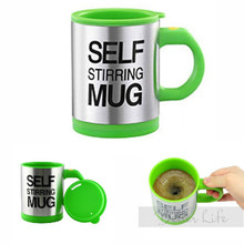 Best Promotion 4 colors Stainless Steel Electric Lazy Self Stirring Mug Automatic Mixing Tea Milk Coffee