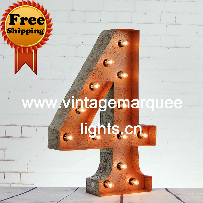 Christmas rusty metal letter24 inch puzzles lights for 24 inch channel letters
