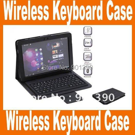 """Bluetooth Wireless Keyboard Case for Samsung Galaxy Tab 10.1"""" P7510 P7500,Retail Package+Free Shipping+Drop Shipping"""