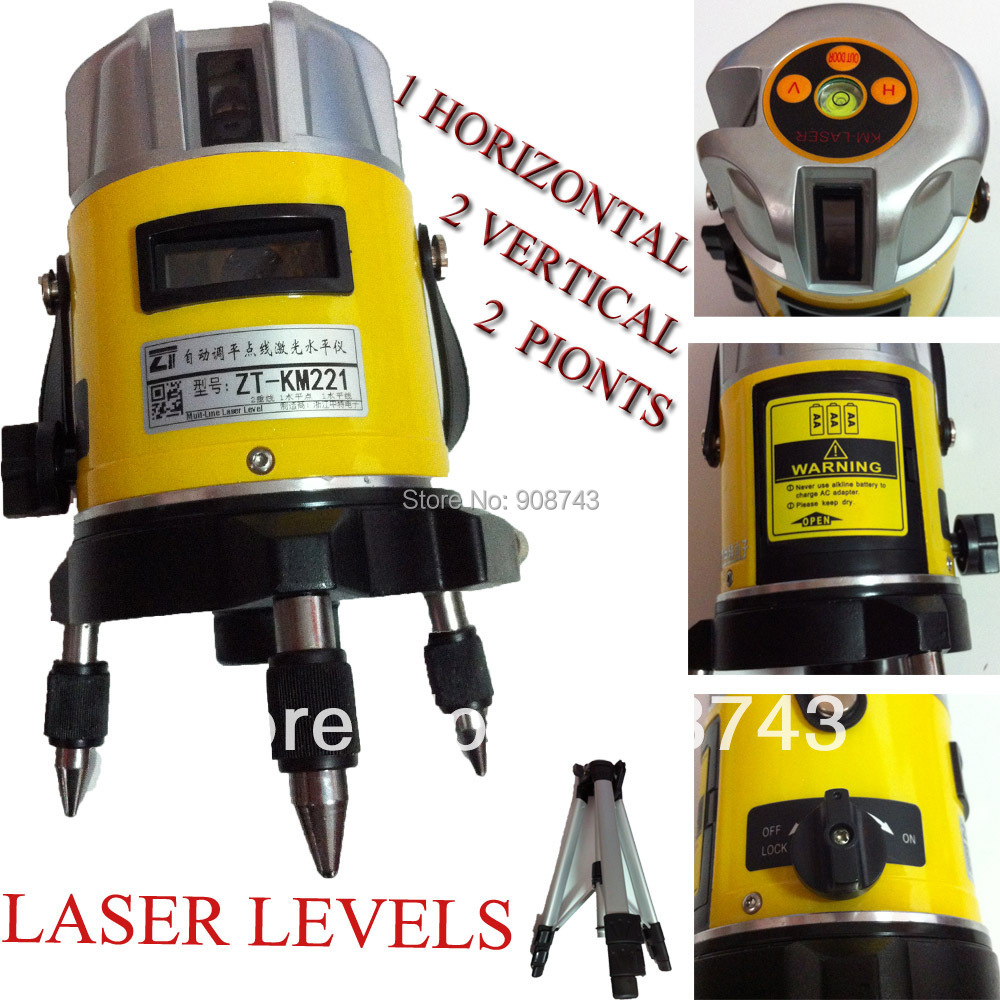 ZT KM221 Line Cross laser distance measure kit Laser Level Red 3 lines 2pionts Optical Instruments