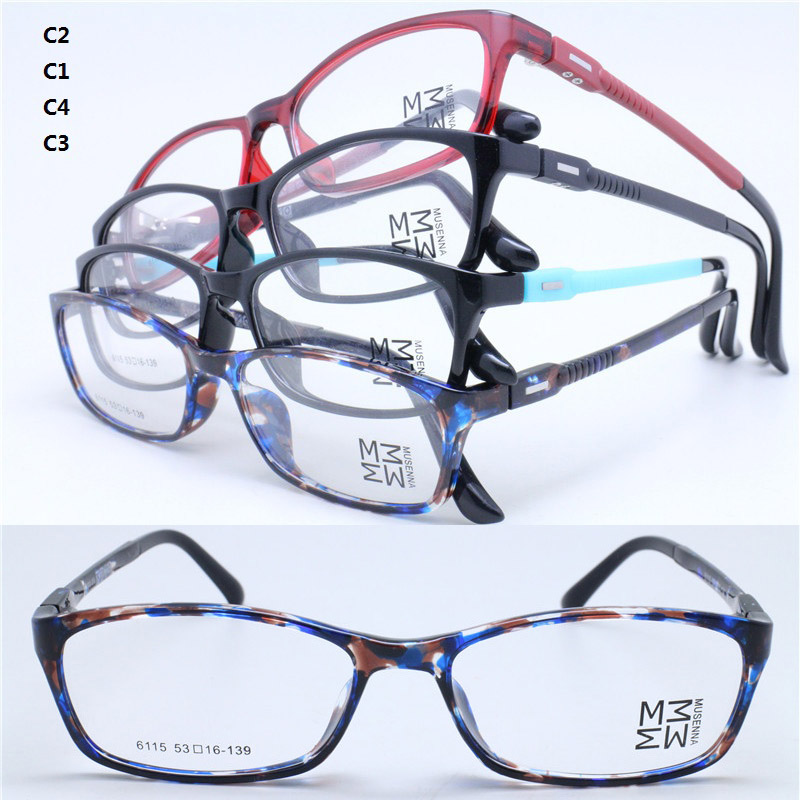 Ultra Lightweight Eyeglass Frames : Wholesale 6115 rectangle shape full rim with sewing thread ...