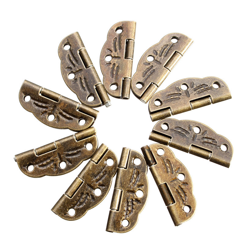 10 PCs Door Butt Hinges Alloy rotated from 0 degrees to 280 degrees Antique Bronze 30mm x22mm Tool Parts(China (Mainland))