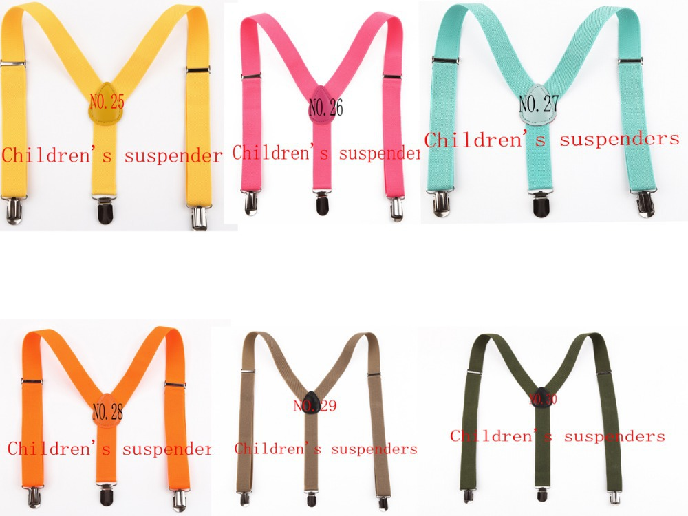 2015 Hot fashion 110 colors adjustable baby Suspenders Y back 3 clip children elastic Braces for