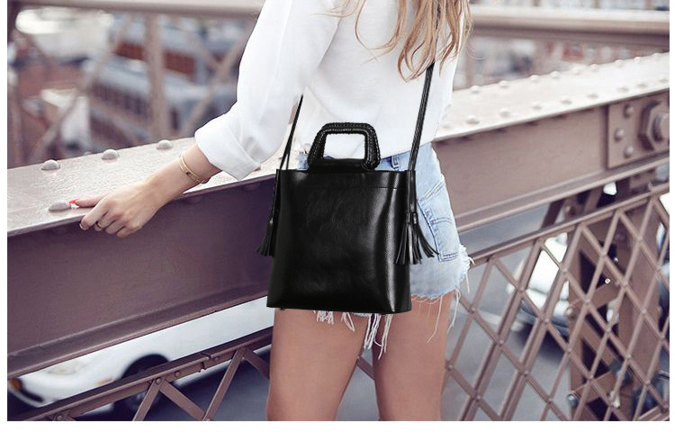 2017 Personalized fashion Genuine Leather Woman Casual Tote bags retro Messenger bag Real Leather Crossbody bags Shoulder bags