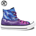 Galaxy Shoes Painted Shoes Casual Shoes High Top Canvas Shoes Womens Mens Christmas Birthday Gifts Hand