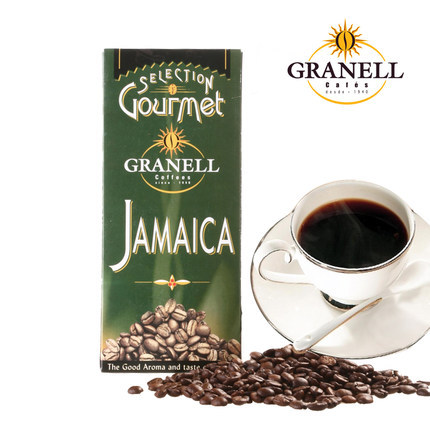 Imported from Jamaica blue mountain coffee is full bodied sweet alcohol 500 g black coffee