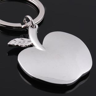 Metal Keychain key ring blank Apple accessories metal tag(China (Mainland))