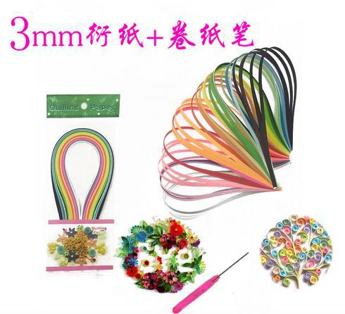 Гаджет  DIY origami Set with Quilling Paper tool pen 160pcs3mm Width x39cm Length Mixed  Colors new learner Material None Дом и Сад