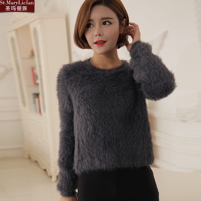 2016 New Arrival Women's Sweater Pullovers Solid Regular Full Sleeve O-Neck Hand Knitted Fashion Women's Clothing