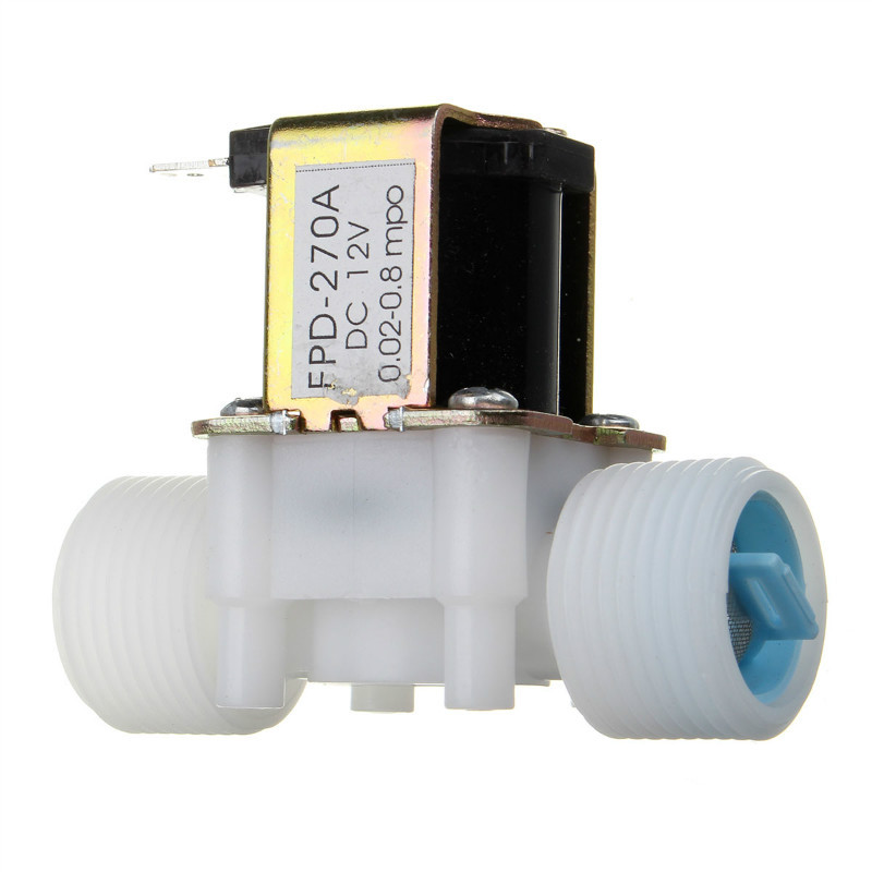 "New Arrival Plastic Electric 12V Water Solenoid Valve DC 3/4"" N/C Normally Closed Inlet Flow Control(China (Mainland))"