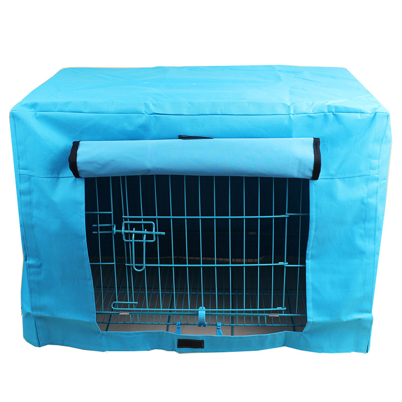 Pet Dog Cage Multifunction Washable Cover Waterproof Pet Crate Cover for Wire Crate Dog Kennel Cage Cover With 3 Colors M L(China (Mainland))