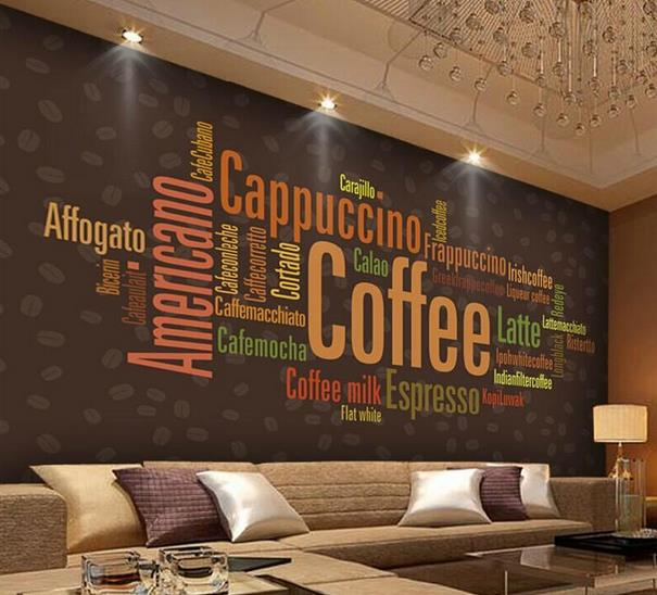 Photos on pinterest for Cafe mural wallpaper