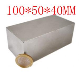 block hole magnet 100 x 50 40 mm powerful craft neodymium rare earth permanent strong n50 n52<br><br>Aliexpress