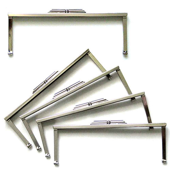 8 '' Metal Clutch Purse Frames - Set of 16 - Nickel(China (Mainland))