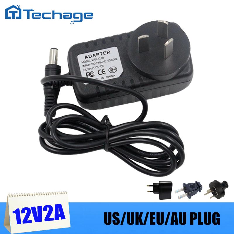 12V 2A Power Supply AC 100-240V Power Adapter wall charger DC 5.5mm x 2.1mm EU/AU/UK/US Plug For CCTV cameras(China (Mainland))