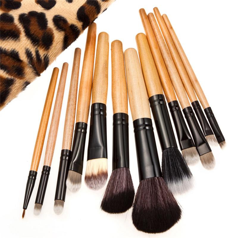 Hot Sale Professional 12pcs Makeup Brushes for powder foundation Eyeshadow Eyebrow Makeup Brush Kit Set Cosmetics Tool free ship<br><br>Aliexpress
