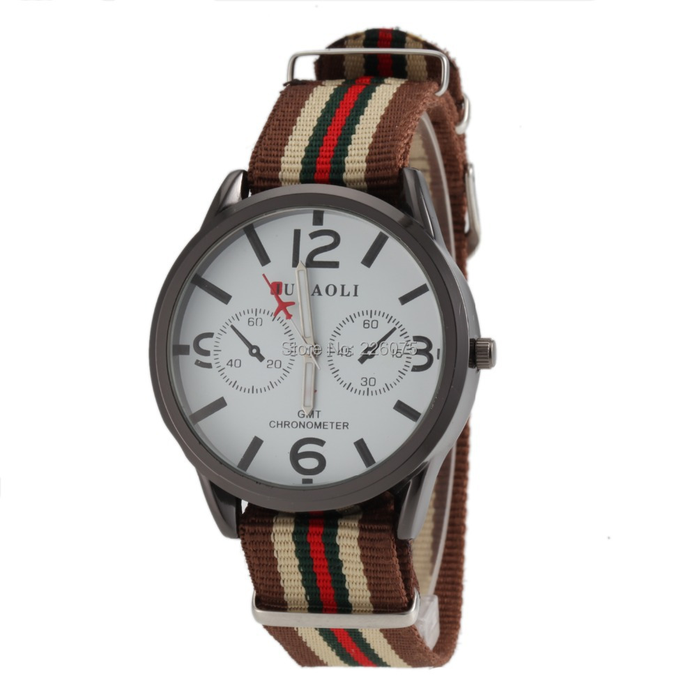 2015 CASUAL JUBAOLI MEN WATCHES MALE CLOCK FASHION QUARTZ WATCH HOUR DIAL LEATHER WRIST relogio masculino - New Funland store