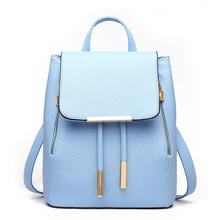 Donne quotidiano zaini daypack sacchetto di scuola della ragazza dell'unità di elaborazione borse in pelle di colore della caramella borsa da viaggio(China (Mainland))