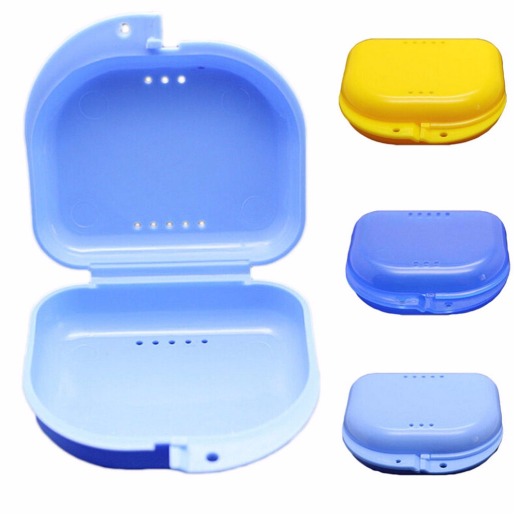 Plastic Denture Bath Box Case Dental False Teeth Appliance Container Storage Boxes Dentures Cleaner 1PCS Top Quality(China (Mainland))