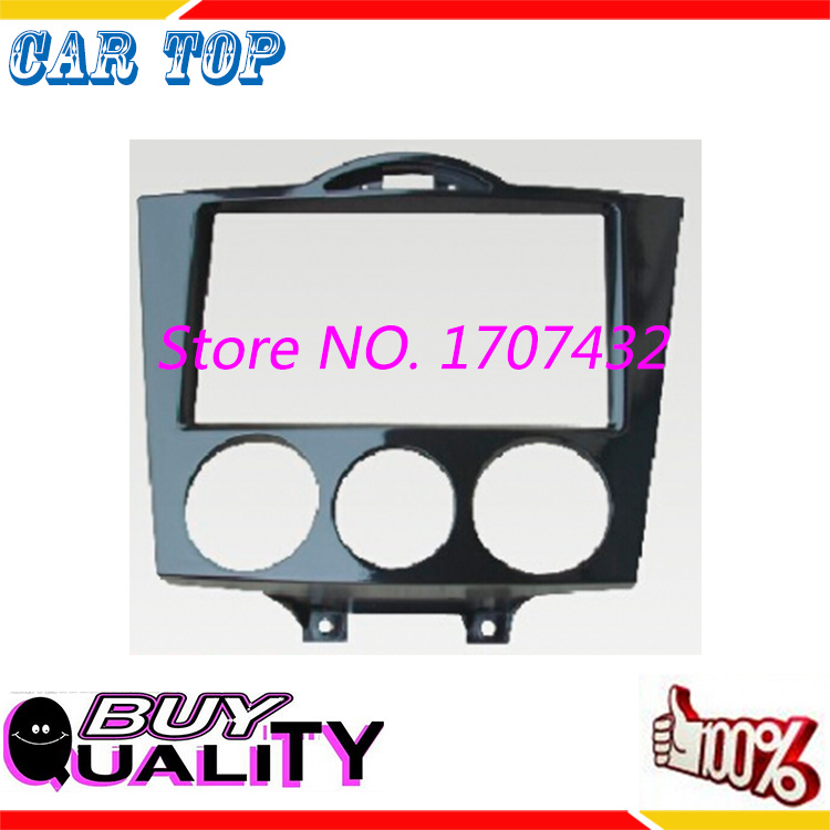 Good quality free shipping new Double Din CD DVD Stereo Audio Panel fascia For MAZDA RX-8 RX8 2003+ Fascia Radio Face Plate<br><br>Aliexpress