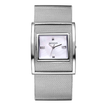 WEIQIN New Famous Brand Silver Big Dail Quartz Watch Women Metal Mesh Full Steel Dress Watches Relogio Feminino Clock Hour 2016