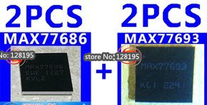 2pair/lot NEW Power supply IC Chip MAX77686 MAX77693 Samsung Galaxy S III S3 i9300 - Smartphone Repair Parts store