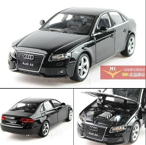 2015 best-selling 1:24 AUDI A4 Alloy Diecast Car Model Toy Collection With Box Black B1558(China (Mainland))