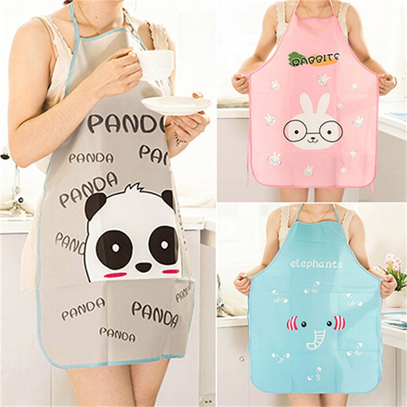 Hot Sale Nice Monther Gift Mommy Love HOT Women Cute Cartoon Waterproof Apron Kitchen Restaurant Cooking Bib Aprons 91TI(China (Mainland))