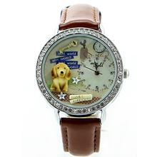 2015 Mini Word Quartz DIY 3D Pet Dog Polymer Clay Watches Women Girl Dress Wristwatches Brithday