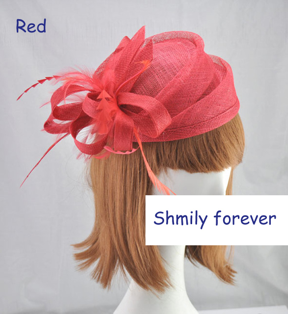 FREE SHIPPING FEATHER BRIDAL WEDDING HAIR ACCESSORIES HEADPIECE UNIQUE FASCINATOR HAT(China (Mainland))