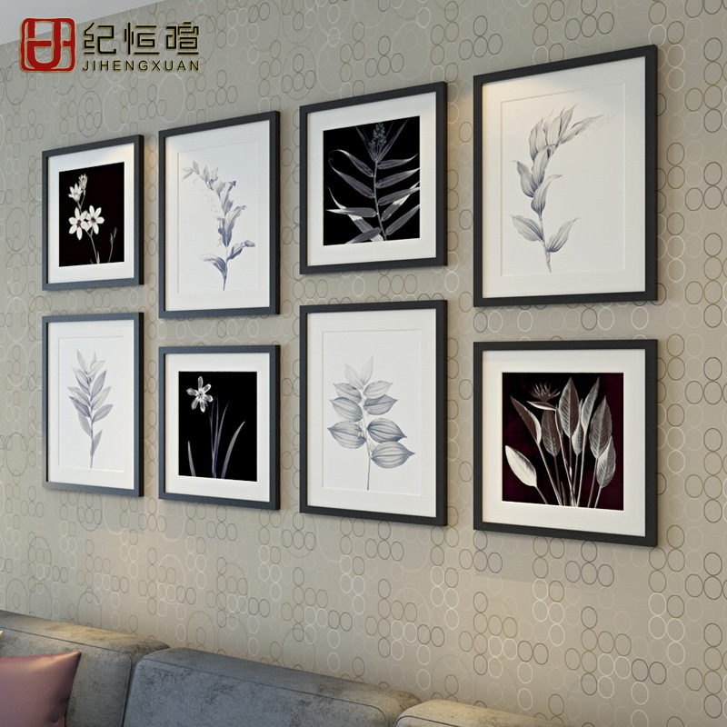 Fashion home decoration simple wood photo wall combination of large wall background wall frame wall creative corporate culture(China (Mainland))