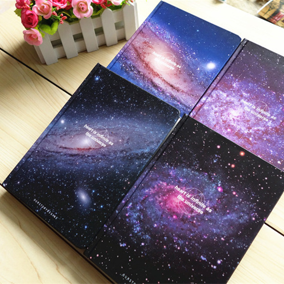 """The Universe"" Lined Diary Hard Cover DIY Planner Pocket Journal School Study Notebook Korean Agenda Notepad Memo Gift(China (Mainland))"