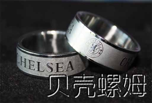 London FC stainless steel silver ring