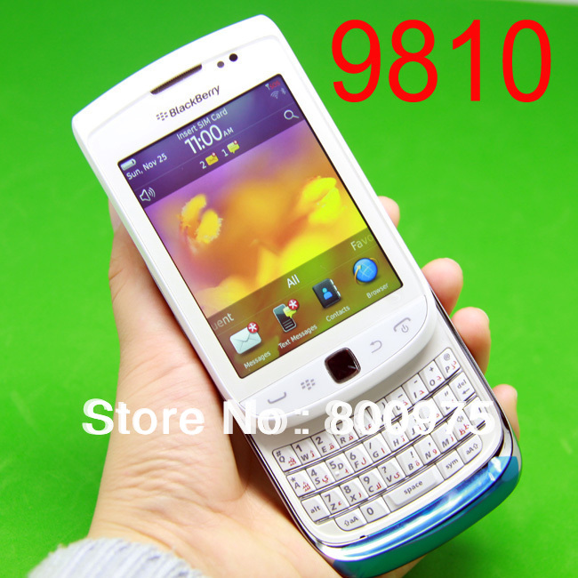 9810 Original BlackBerry Torch 9810 Mobile Phone Smartphone Unlocked QWERTY 3G Wifi GPS Cellphone & White(China (Mainland))