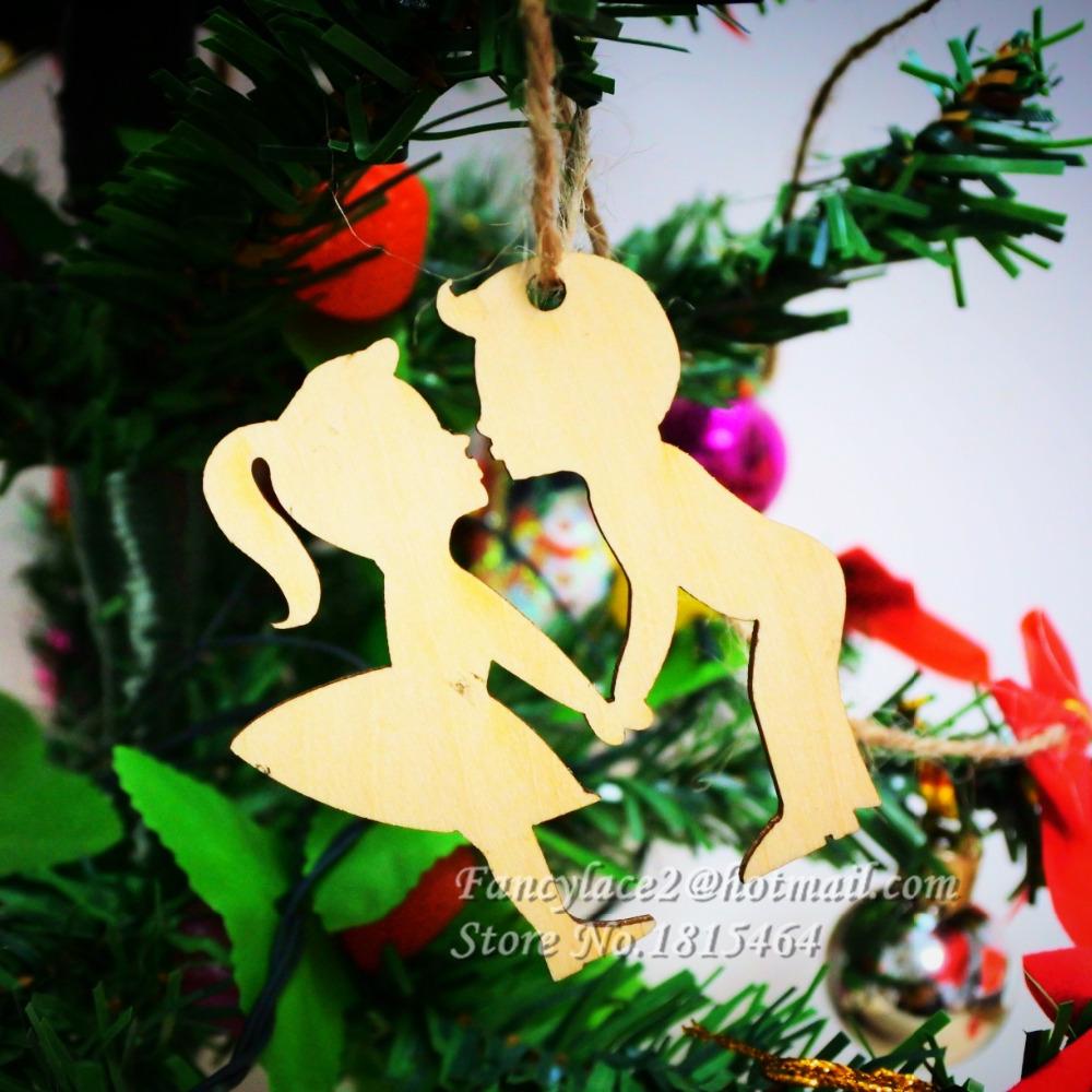60pcs wish card boy u0026 girl wood tags tree decoration ornaments rustic tags wedding valentine party