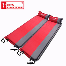 2015 Hot sale (170+25)*65*5cm single person automatic inflatable mattress outdoor camping fishing beach mat on sale/ wholesale(China (Mainland))