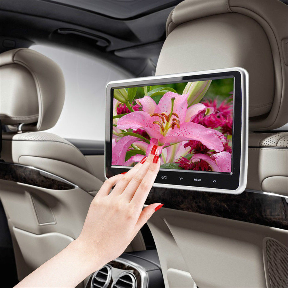 "Car Monitor Multilanguage Car Video Player 10""HD Digital LCD HDMI Car Headrest Monitor DVD/USB/SD Player IR/FM Game Speaker(China (Mainland))"