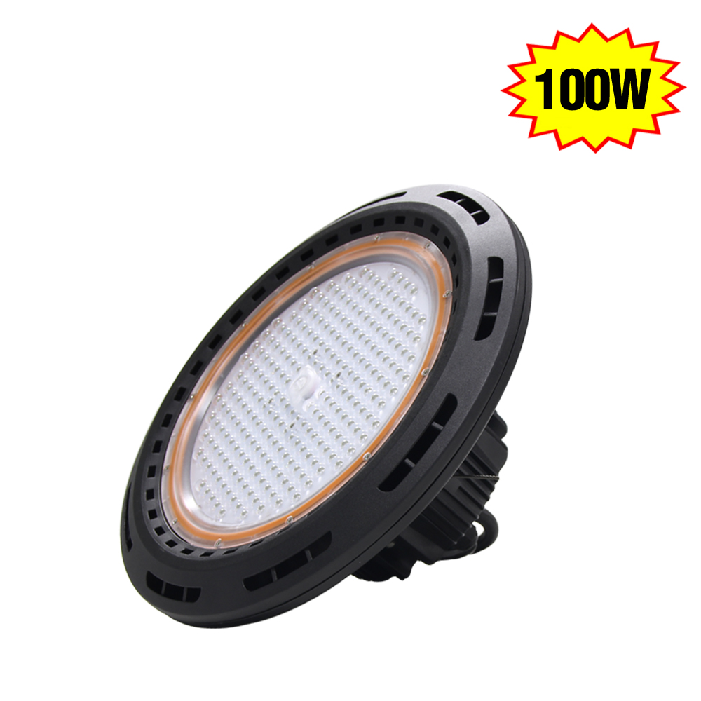 IP65 Waterproof 100Watt UFO Highbay LED Light 125Lm/w High Bay Fixture For Gas station Parking Lot Indoor Outdoor Use(China (Mainland))