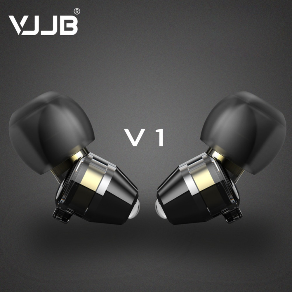 Mic VJJB V1S 3.5mm In-ear Earphones HIFI Headset Wired Music Noise Canceling Headphones Xiaomi LG iPhone - Fine Bluetooth Headset&Speaker Store store