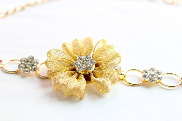 Korean Fashion Women Belts Flowers Rhinestone Metal Waist Chain Skirt Chain(China (Mainland))